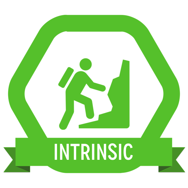 """Badge icon """"Climbing (526)"""" provided by The Noun Project under The symbol is published under a Public Domain Mark"""